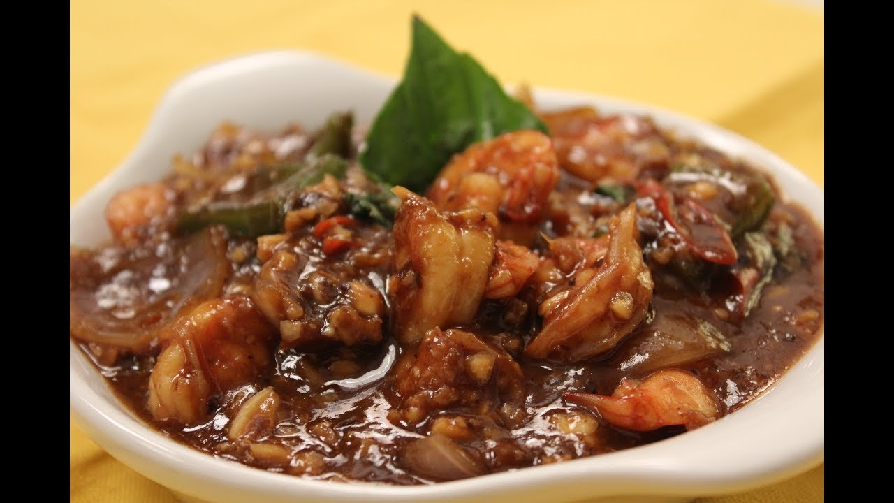 How To Make Prawn In Black Bean Sauce Recipe By Masterchef Sanjeev Kapoor