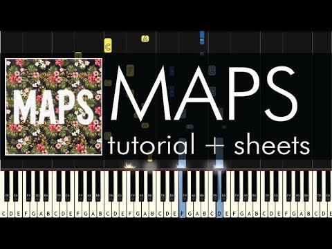 Maroon 5 - Maps - Piano Tutorial + Sheets