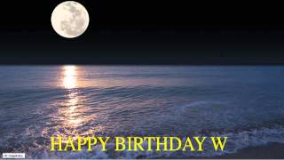 W  Moon La Luna - Happy Birthday