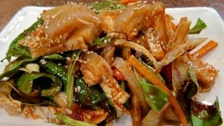 Korean Pig Skin Salad Anju Recipe / 돼지껍데기 초무침 / World Of Flavor