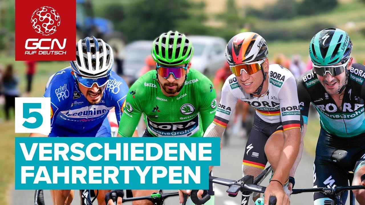 Download 5 verschiedene Fahrertypen im Profi-Radsport