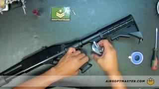 Installing the CQB Russian HPA on Jag Scattergun Gas Shotgun