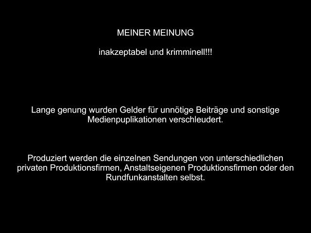 Wie ARD und ZDF mal eben sinnfrei 45 Millionen Euro verbrennen…