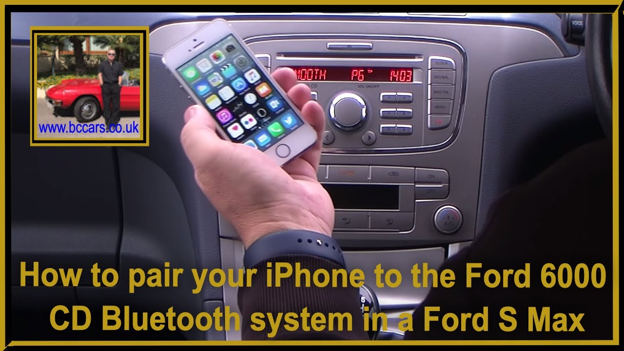 how to pair your iphone to the ford 6000 cd bluetooth. Black Bedroom Furniture Sets. Home Design Ideas