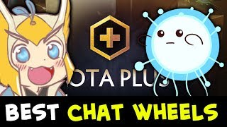 Dota PLUS best hero chat wheels — most rare MASTER TIER