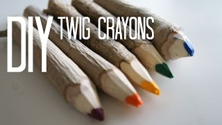 How to Make Twig Crayons
