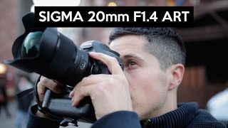 SIGMA 20mm 1.4 ART | super wide angle lens | hands on | unboxing and review