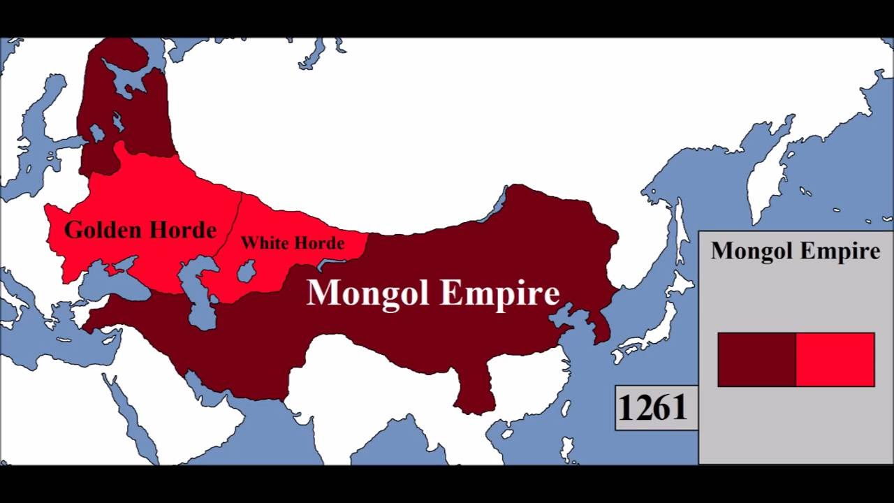 Mongol Empire Map Rise and Fall of the Mongol Empire (Map)   Every Year   YouTube Mongol Empire Map