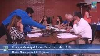 Concejo Municipal Jueves 27 de Diciembre 2018 - El Quisco