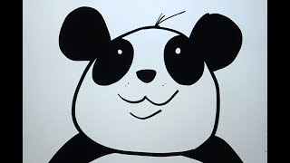 How To Draw a Cartoon Panda 1 - Space Age Drawing