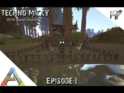 Ark Survival Evolved   Ep 1  Techno Micky Crazy Folks Center Map