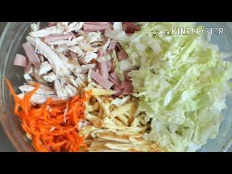 Салат «Валентинка» с курицей