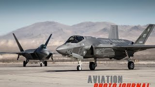 F-35 Lightning II and F-22 Raptor Flying Together