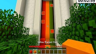 Minecraft COLOUR FALL CHALLENGE MAP with The Pack (Minecraft Mini Game)