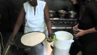 How To Make Injera - Mesob Ethiopian Restaurant With Hot From The Kettle