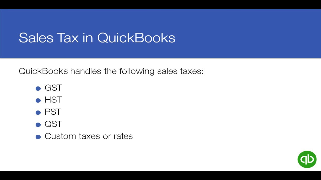 How To Set Up File And Manage Sales Tax In QuickBooks Online YouTube - Create invoice in quickbooks online thrift store