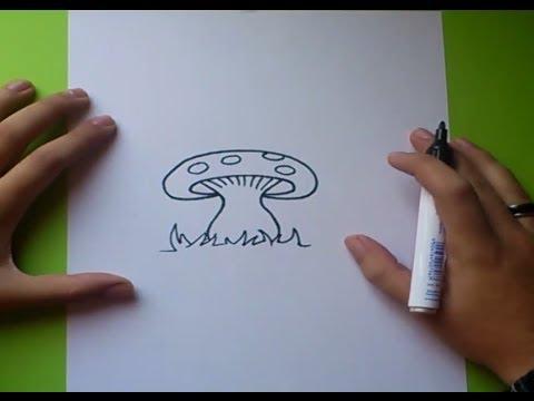 Como dibujar una seta paso a paso  How to draw a mushroom  YouTube