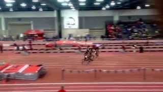 2015 UNLV Track and Field MountainWest Conference 60 meter final Destiny Barnett Smith & Drea Austin