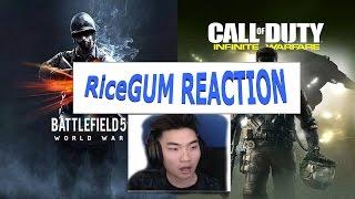 RiceGum's Reaction - Battlefield 1 and CoD Infinite Warfare Trailer!!!