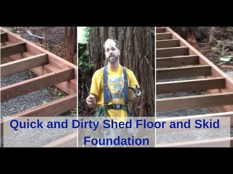 Quick And Dirty Shed Floor And Skid Foundation For Best Barn Denver Model Link In The Description