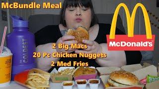 McDonald's McBundle Meal Mukbang