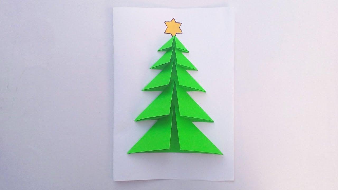 How To Make Diy Christmas Card With Tree Diy Christmas Tree Card