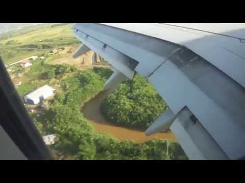 Landing in Trinidad on United Airlines