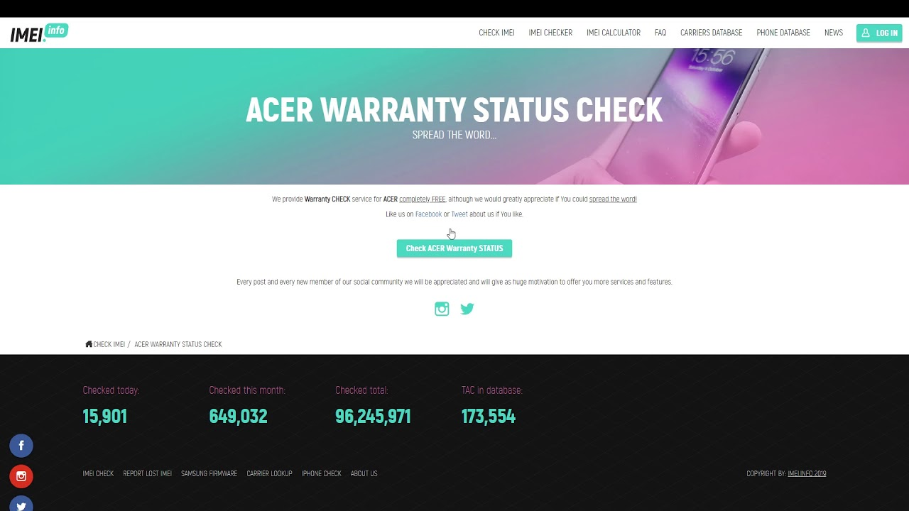 FREE ACER WARRANTY CHECKER - News - IMEI info