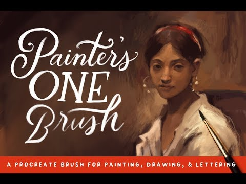 Painting Brush for Procreate Timelapse (Portrait Painting Demo)