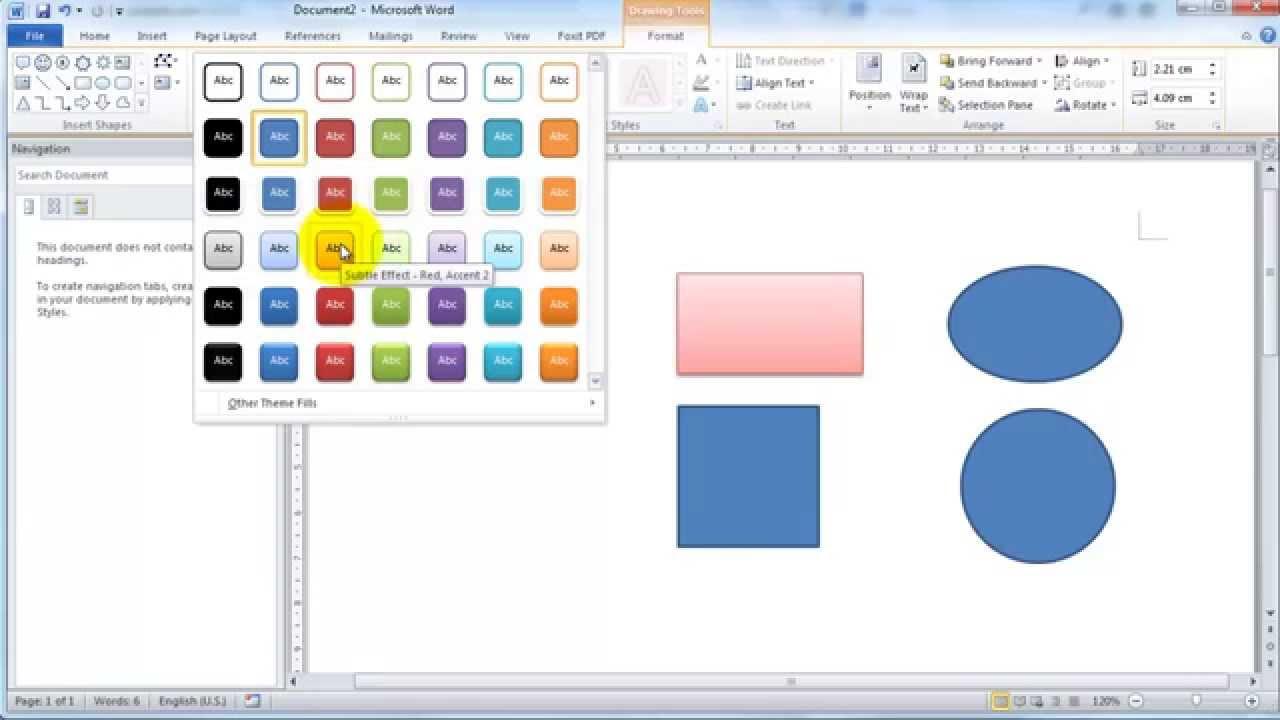 Word 2010 – Vẽ các hình cơ bản bằng shape