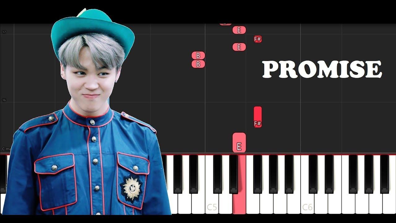 Jimin - Promise (Piano Tutorial)