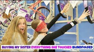 Buying My Sister Everything She Touches Blindfolded ~ Jacy's Turn ~ Jacy and Kacy