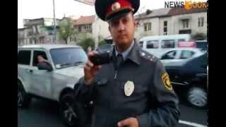 Վիճաբանություն ճանապարհային ոստիկանների և քաղաքացիների  միջև