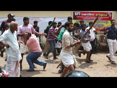 KTU students protest against Exam timetable in trivandrum