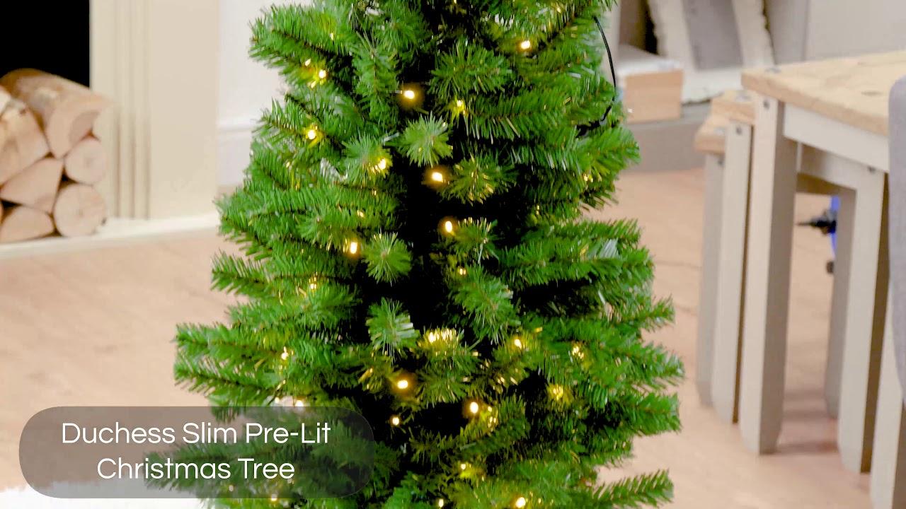Robert Dyas Duchess Slim Pre Lit Christmas Tree