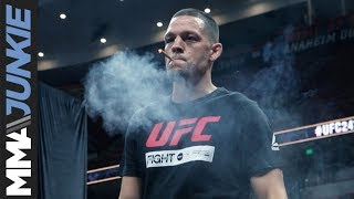 Nate Diaz tokes up during UFC 241 open workout
