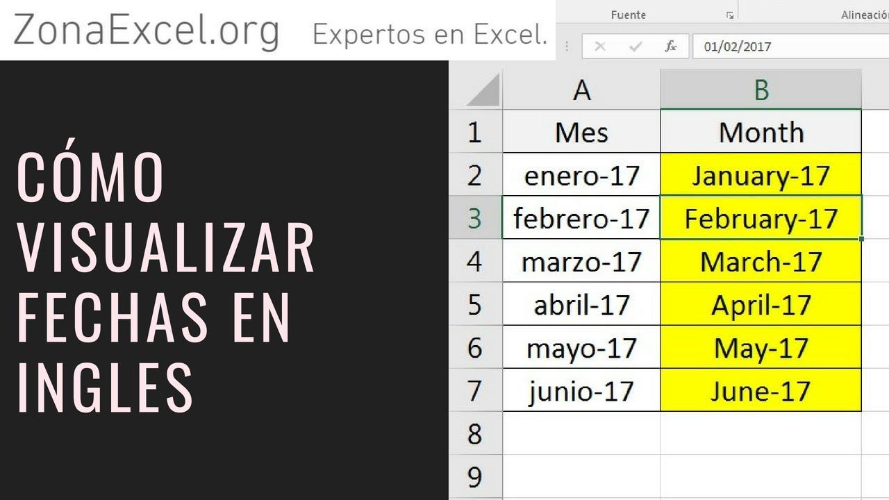 Aparador Dinn Jader Almeida ~ CONVERTIR FECHA EN INGLES EXCEL TRUCO Ejemplo Sencillo Curso Excel Lección #16 You
