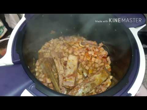Готовим очень вкусную сборную солянку в мультиварке-скороварке MOULINEX cook4me