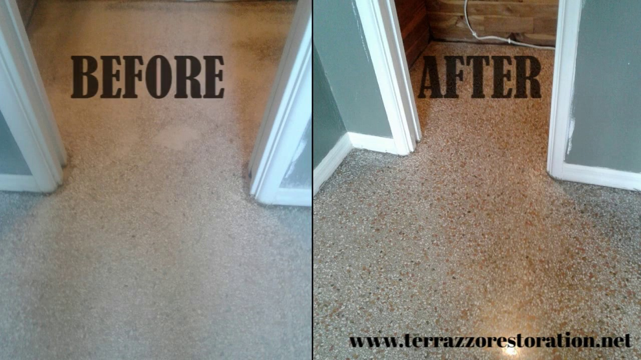 How To Clean Terrazzo Floor Services In Ft Lauderdale YouTube - How to clean old terrazzo floors
