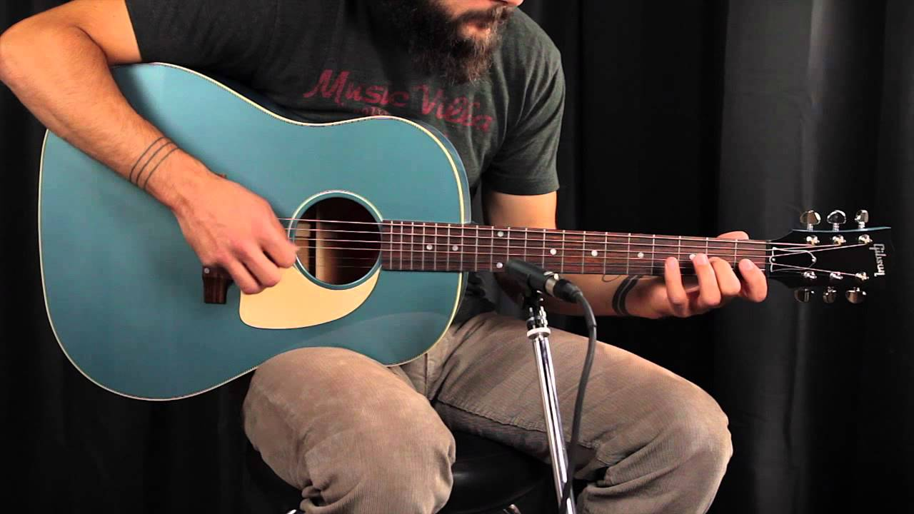 gibson acoustic j45 limited edition pelham blue review youtube. Black Bedroom Furniture Sets. Home Design Ideas