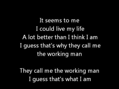 Rush-Working Man (Lyrics)