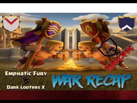 Emphatic Fury vs Dark Looters X CWL Premiere playoffs War Recap