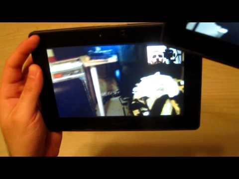 Blackberry Playbook Video Chat - How To Set Up & Demo - HD