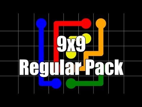 Flow Free Walkthrough - Regular Pack 9x9: Levels 1-30