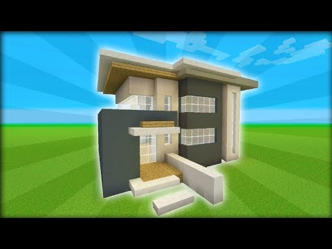 Minecraft Tutorial: How To Make A Modern House #1