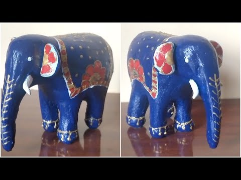 How To Make Baby Elephant From Cardboard And Paper | Home Decor | DIY