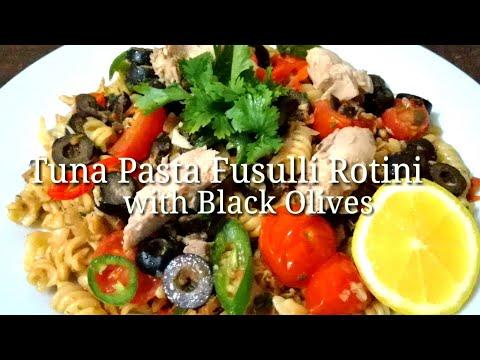 Tuna Pasta Fusulli Rotini With Black Olives.. EDWARD'S NURSEKITCHEN Recipe #23 Vlog #28.. Buhay OFW.