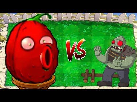 Plants vs Zombies Hack - Gatling Wall Nut Red vs Gargantuar Zombies