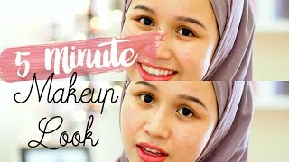 Literally 5 minute makeup look