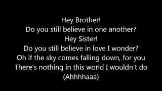 Repeat youtube video Avicii ~ Hey Brother (Lyrics)
